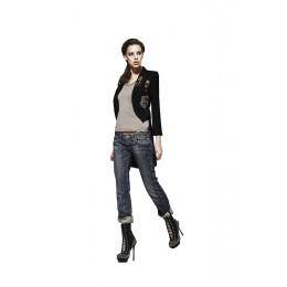 Jeans stretto a vita bassa
